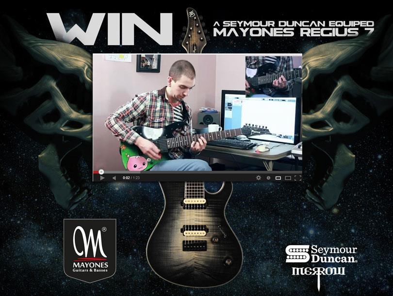The Mayones and Seymour Duncan Regius Giveaway - THE WINNER - Nicholas Llerandi