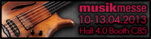 Mayones at Musikmesse Frankfurt 2013 - check what's hot this year!